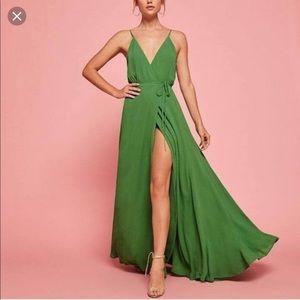 Reformation Callalily Green Mojito Dress